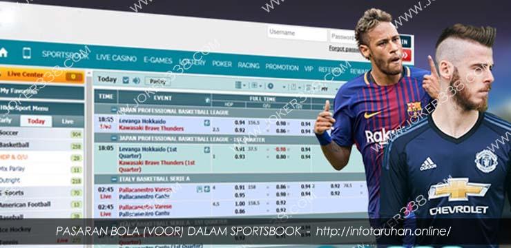 Pasaran Bola (Voor) dalam Sportsbook